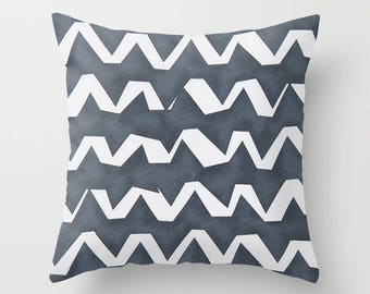 Nautical Pillow cover Zig zag Pillow Cover Decorative Pillow Cover RV Pillow Hunting Pillow Color Choices
