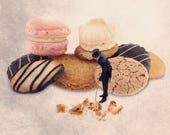 Kitchen Art, French pastries, Cute cake photo, Kitchen decor, kitchen art print, kitchen wall decor, French Patisserie, french country decor