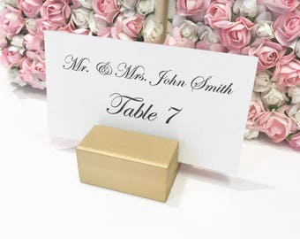 Place Card Holders + Gold Place Card Holders