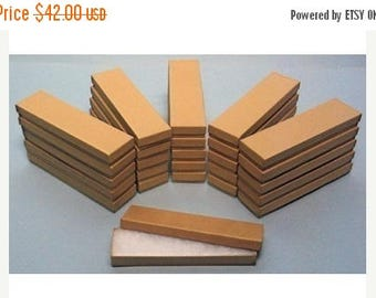 STOREWIDE SALE 100 Pack Kraft Cotton Filled Presentation Jewelry Boxes 8 X 2 X 1 Inch Size