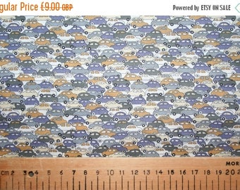 """SUMMER SALE Special Offer! Liberty Tana Lawn """"CARS"""" grey/light brown 0.50 metre"""