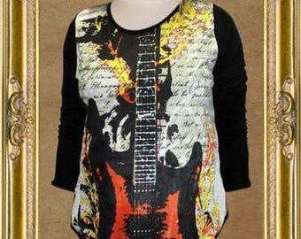 Rock N Rags Fuel Rocker Maternity Concert Shirt Tee