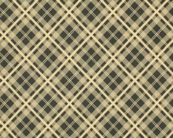 Denyse Schmidt CDDS003 Chicopee Simple Plaid Black Corduroy Cotton Fabric By Yd
