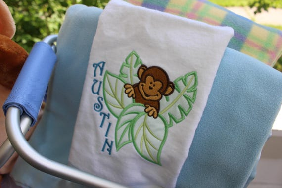 Personalized little monkey baby gift set personalized baby personalized little monkey baby gift set personalized baby blanket personalized plush toy embroidered baby gifts newborn gifts negle Image collections