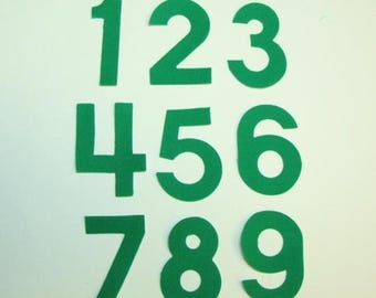 Fabric Iron On 2 Inch Numbers- U Choose Number and Fabric Color
