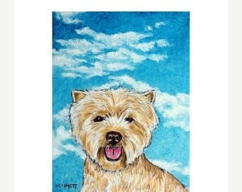 20% off storewide West Highland White Terrier With the Sky Dog Art Print
