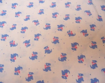 wee scottish terriers cotton fabric