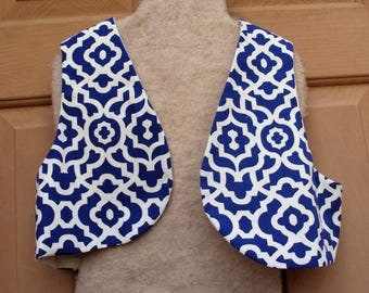 Aladdin vest, Genie vest, Land of the Arabian Knights, round edge or square edge--let me know which one you like best