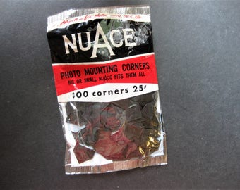 Vintage Nu Ace Photo Mounting Corners, Unopened Package, 300 Corners