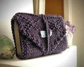 Summer Solstice Sale Tarot wrap / tarot bag / tarot deck bag / tarot travel / tarot card mat / tarot case / royal purple / knit tarot wrap /