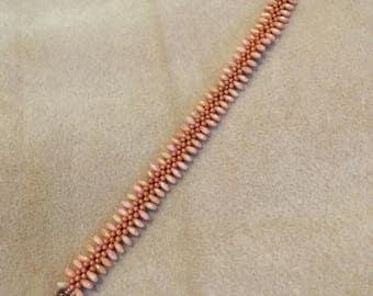Orange Centipede Bracelet