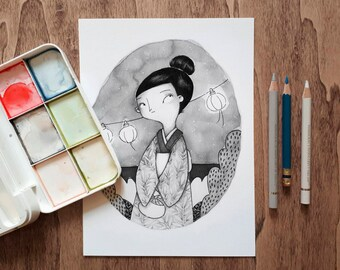 Little Japanese A5 Print