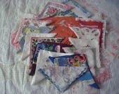 Vintage Handkerchiefs Group of 17 hankies