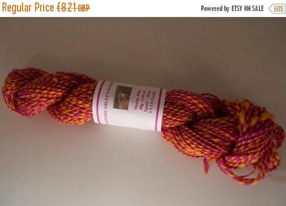 Christmas In July Handspun Hand-dyed Merino Yarn 48g/110yds
