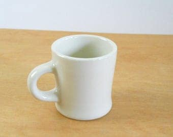 Vintage Rego Coffee Mug •Vintage Restaurant Ware Coffee Cup • Vintage Ivory stoneware Mug