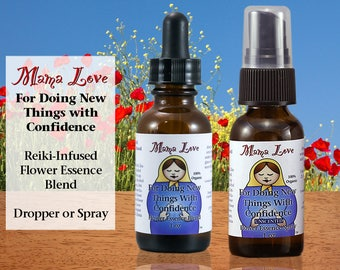 Confidence, Flower Essence Formula for Handling Change,  Doing New Things, Organic, Reiki-Infused Bach Flower Remedy, Dropper or Spray