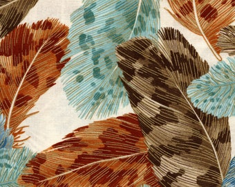 Kaufman Crescendo Metallic 13697 169 Earth Feathers By The Yard