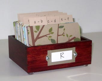 Address Card File...Petite...Rolodex...Wedding Guest Book Alternative...Handcrafted...Organizer...Business Card