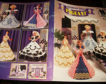 Plastic Canvas Toy Patterns Fashion Doll Pageant Annie's Attic 87S76 Plastic Canvas Leaflet