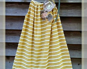 Goldenrod Mini Ruffles Girls Pillowcase Style Dress