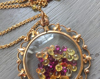 Shake It Locket Antique Art Nouveau Shake Locket
