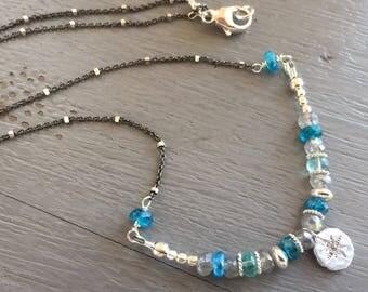 Gemstone Bar Necklace Boho Chic Bar Necklace