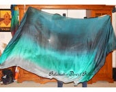 "Clearance Sale Half Price !! Sahariah's Silk Belly Dance Veil Rectangle original ""Killer Silk"" 3 Yard Rectangle"