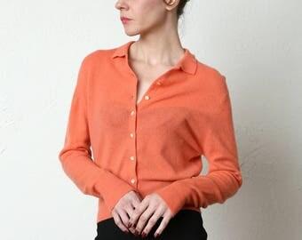 Coral Angora Sweater