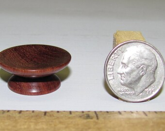 Dollhouse Miniature Woodturning Rosewood Platter 1:12