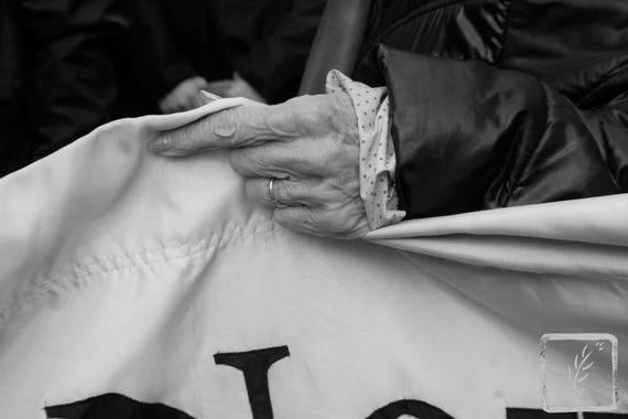 """Edith Windsor's Hand,"" New York City Women's March, 2017."
