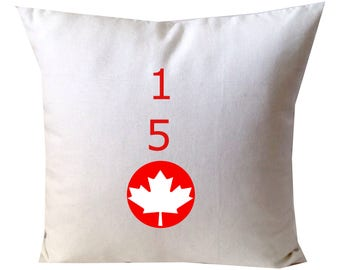 Canada Day Pillow Cover, White Bed Pillows, White sofa Pillows, White Decorative Throw Pillow Cover