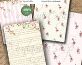 SWEET FLOWERS backgrounds Collage Digital Images -printable download file-
