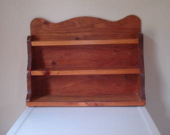 Vintage wooden shelves - perfect spice rack - all wood