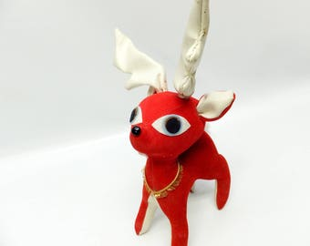 Vintage reindeer decoration - 1950s kitsch
