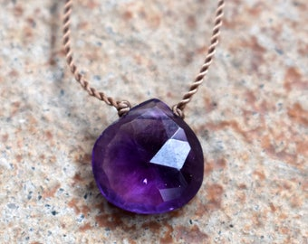 Amethyst Robin Necklace