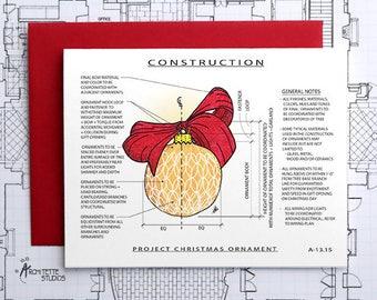 Project Christmas Ornament (Orange) Construction - Instant Download Printable Art - Construction Series