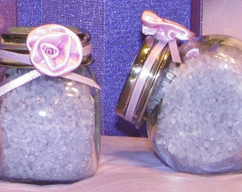 Small Glass Jars Cruets Set