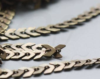 One Foot Oxidized Brass Chain-Arrow 5.9x5.5mm (3371C)