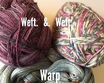 Double Take Gray Scarf Weaving Kit-Two scarves one warp-Handmade-Handwoven-Rigid heddle loom- Floor loom-Table loom-weaving