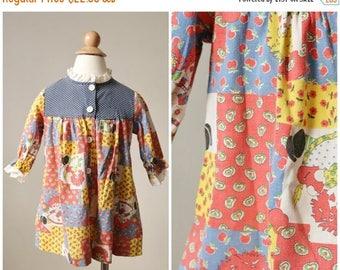 ANNIVERSARY SALE 1960s Raggedy Ann Dress >>> Size 24 Months