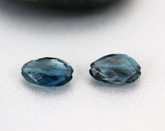 London Blue Topaz Beads - 11mm - London Blue Topaz - Nugget Bead Pair