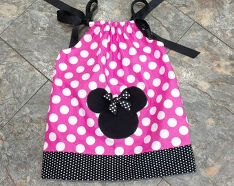 Pillowcase Dress - Minnie Mouse Dress - Disney Dress -  Disney Birthday - Disney Vacation Dress -  Groovy Gurlz
