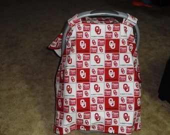 OU print with lining infant car seat canopy--seat not included