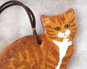 Orange Tabby Cat Ornament - Ginger Cat Ornament - Marmalade Cat Ornament - Cat Lover Ornament - Cat Lover Gift