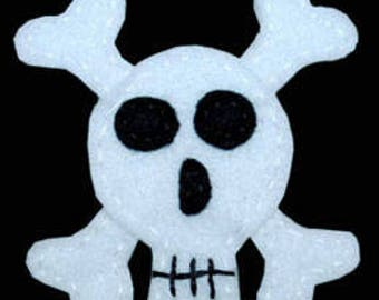 Skull and Crossbones Acrylic Felt Embellishment