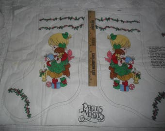 Vintage Set of Precious Moment's Christmas Stockings to make