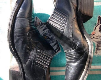 ON SALE Vintage black Nocona Western ankle boots 5 C