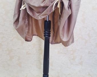 "SUMMER SALE Gold Gilt Knee Length Bustle Skirt-One Size Fits Up To A 52"" Waist"