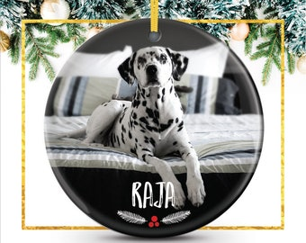 Pet Photo Ornament, Personalized Pet Ornament, Christmas Gift For Pet Owner, personalized dog ornament featuring your photo // C-P119-OR XX9