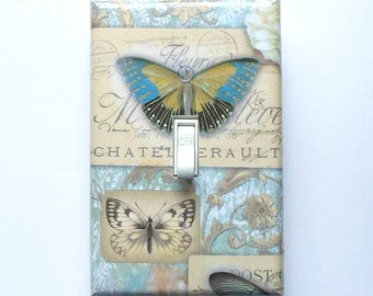 10 CHOICES of Butterfly Switch plates with MATCHING SCREWS- Butterfly wall decor butterflies butterfly switch plate covers butterfly plates